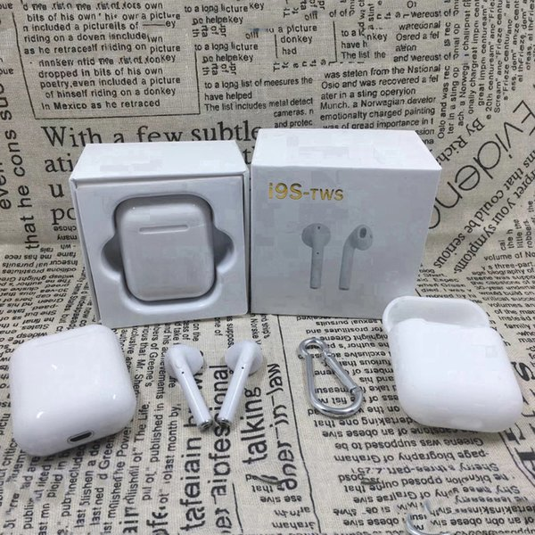 I9S-TWS I9 I9S earphones HBQ bluetooth earphone headphone TWS Twins True Wireless headphones Mini earbuds headset with package for Phone