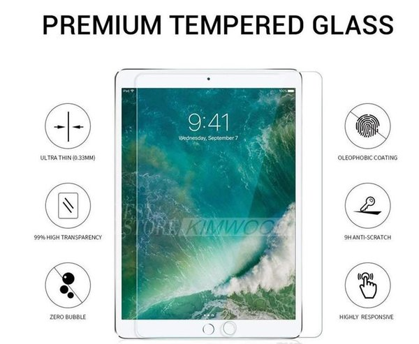 Fast Tempered Glass 0.3MM Screen Protector For iPad 2 3 4 Mini Air/Air2 Pro 2017 9.7/10.5/12.9 inch
