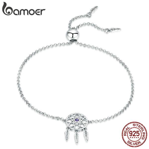 NEW Genuine 925 Sterling Silver Dream Catcher Adjustable Charm Bracelet Link UK