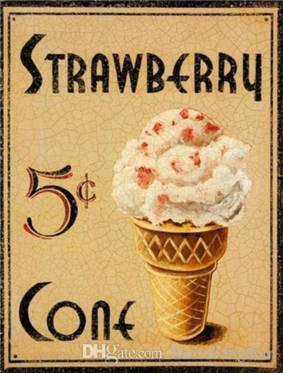 strawberry route 66 day mancave plinup girl 20*30cm motorbicycle Tin Sign Coffee Shop Bar Restaurant Wall Art decoration Bar Metal Paintings