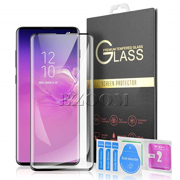 S10 3D Curved Tempered Glass Screen Protector for Samsung Galaxy S10 E 5G S9 S8 Plus NOTE 9 LG G8 Case Friendly [Fingerprint Support]