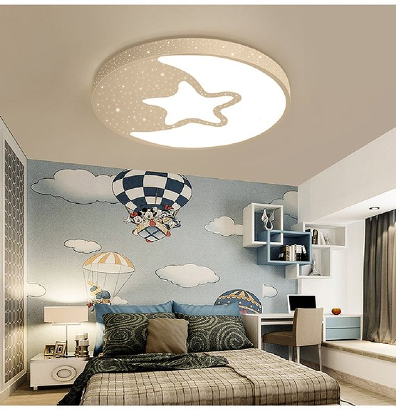 2019 LED Ceiling Light Modern Lamp Panel Star Lighting Fixture Children  Bedroom Hall Surface Mount Flush Remote Control Kids From Jess234, $88.45 |  ...