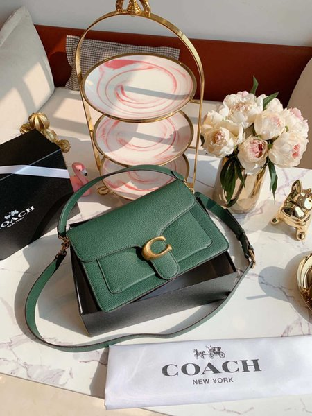 Ladies bag 2019 new simple and practical retro square design handbag Exquisite lychee pattern ladies messenger bag size28*20