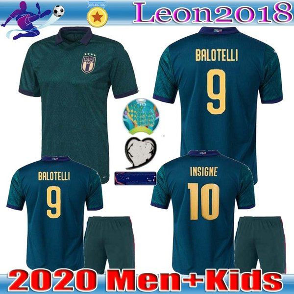top popular Man kids 2019 2020 italy third soccer jerseys 19 20 maglie da calcio Verratti Jorginho Romagnoli football jersey shirts 2019