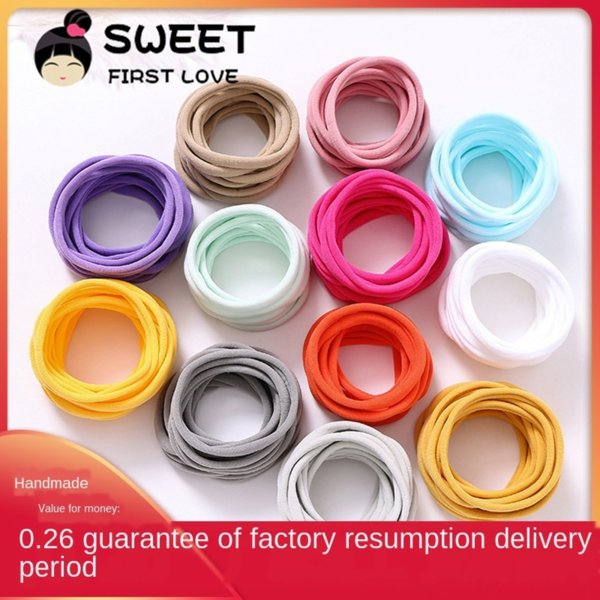 best selling American ins baby rope band super soft baby hair band traceless nylon hair rope