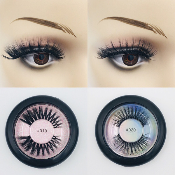 High-end round box 3D thick thickened fake eyelash natural nude makeup eyelash beauty tool false eyelashes 10 styles