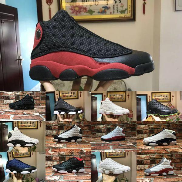 Nike Air Jordan 13 Pas cher hommes Jumpman 13 XIII chaussures de basket 13s DB noir infrarouge blanc vert rouge Olive j13 air ajj13 baskets bottes à vendre