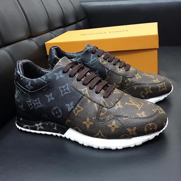 Sport Herrenschuhe Fashion Leather Plus Size Run Away Sneaker Mode Schuhe für Männer mit ursprünglichem Kasten Runner Im Freien Chaussures gießen hommes