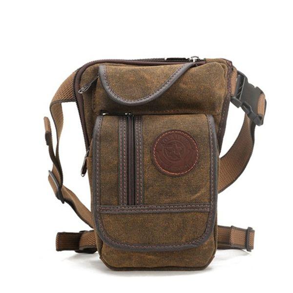 leg bag AOLAILUD Canvas Nylon Men Hip Belt Waist Pack Leg Drop Bags Riding Motorcycle Bum Thigh Male Messenger Shoulder Bag Fanny Pack