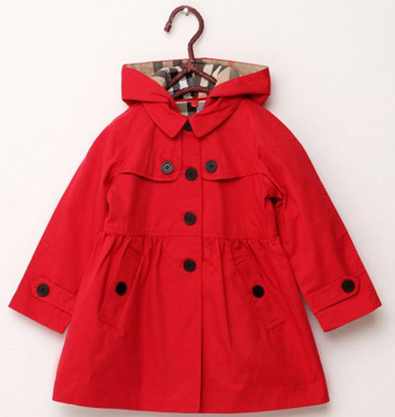Yeni çocuk giyim kız ilkbahar ve sonbahar prenses ceket düz renk orta-uzun tek göğüslü siper babys giyim B11