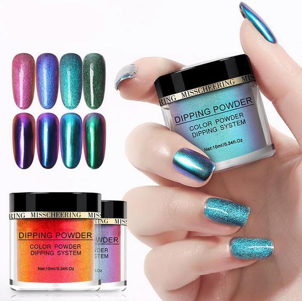 top popular January3 Nail jewelry Hot Sale Nail Infiltration Powder Laser Powder Glitter Nail Polish Powder Dipping M00063 2020