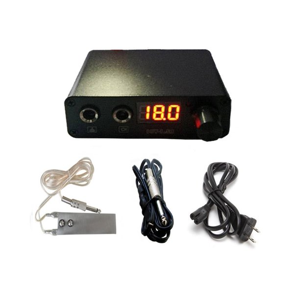 Brand New Tattoo Mini Power Supply with USB Interface + Foot Pedal + Clip cord Kit