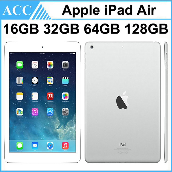 top popular Refurbished Original Apple iPad Air iPad 5 WIFI Version 16GB 32GB 64GB 128GB 9.7 inch Retina IOS Dual Core A7 Chipset Tablet PC DHL 1pcs 2020