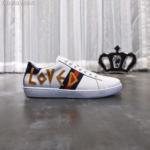 Neue Mens Designerschuhe weiß Ace Schuhe Biene chaussures Sneakers Leder Designer Sneaker Herren Schuhe Vetements Größe 39-45