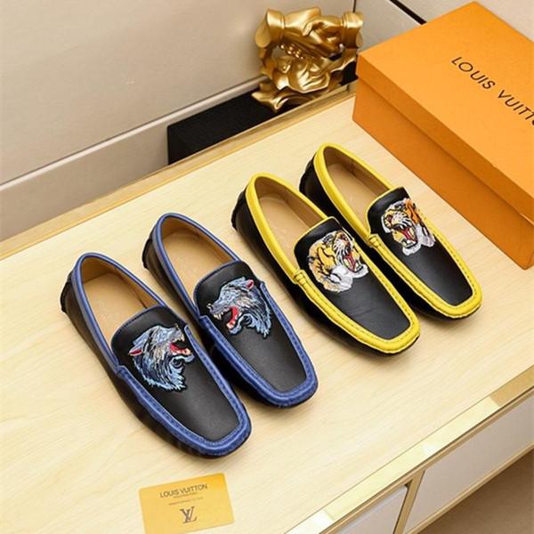 Günstige Designers Brand Classic Man Spitzschuh Schuhe Herren Lackleder Schwarz Hochzeitsschuhe Oxford Formelle Schuhe Große Größe mode