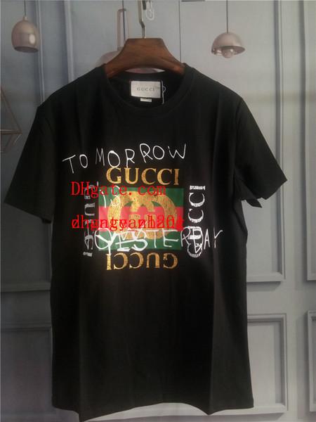 Мужская 2019 бренд одежды футболки Летняя одежда повседневная Хлопок С коротким рукавом Мужская Мода печати футболка высокого качества плюс размер Tee ds-5