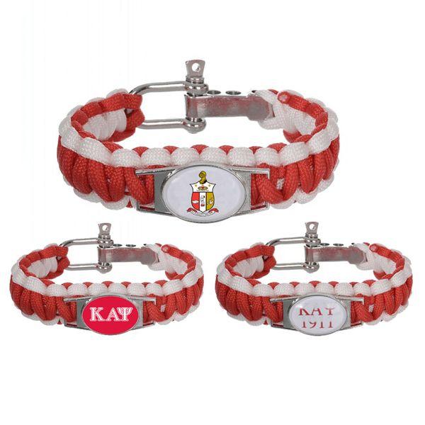 Fashion Jewelry Bracelets Custom Greek Letters 550 Paracord Bracelets Kappaa Alpha Psi Fraternity Adjustable Survival Bracelet