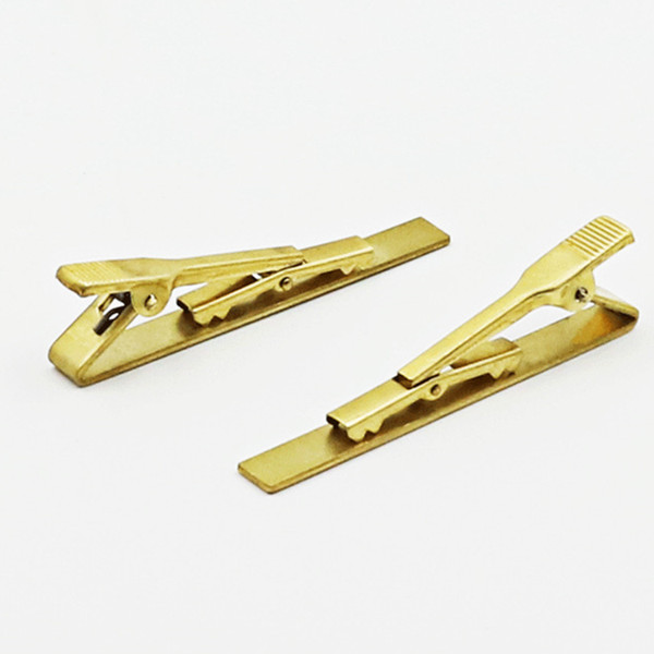 Krawattenklammern 5,8 * 0,6 cm goldfarben Überzug kupfer Für Business mann krawattenklammern vater Krawattenklammern weihnachtsgeschenk