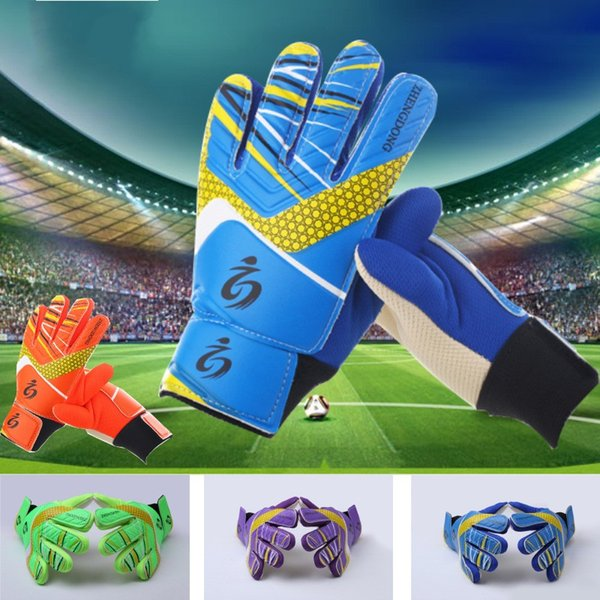 Children Goalkeeper Glove Breathable Soft Multi Colour Profess Football Gloves Double Layer Wrist Protector Training Equipment Hot Sale 22xm