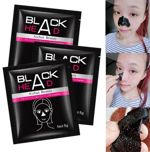Aichun Suction Black Mask Nasensticker Gesichtspflege Reinigung Tearing Style Porenreiniger Streifen Tiefe Akne Mitesser Gesichtsbehandlung Entfernen Sie den schwarzen Kopf