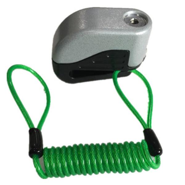 сплетение 1.2meter сигнализации Блокировка диска безопасности Анти Вор мотоцикл колеса Дисковой механизм сумка и напоминание Весна кабель Wh