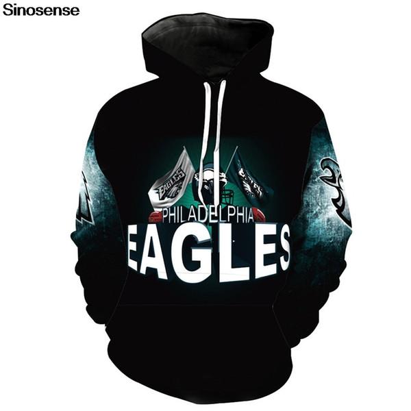 best cheap 531e4 6cda2 Eur Size Philadelphia Eagles Hoodies Men Women Autumn Winter Long Sleeve  Hoodie Sweatshirt 2019 Pullover Hooded 3D Tops 3XL #344994 UK 2019 From ...