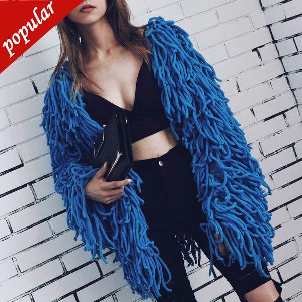 Cappotto in pelliccia sintetica a maniche corte in pelliccia sintetica, autunno autunno, autunno inverno, soprabito in pelliccia nappa W1222