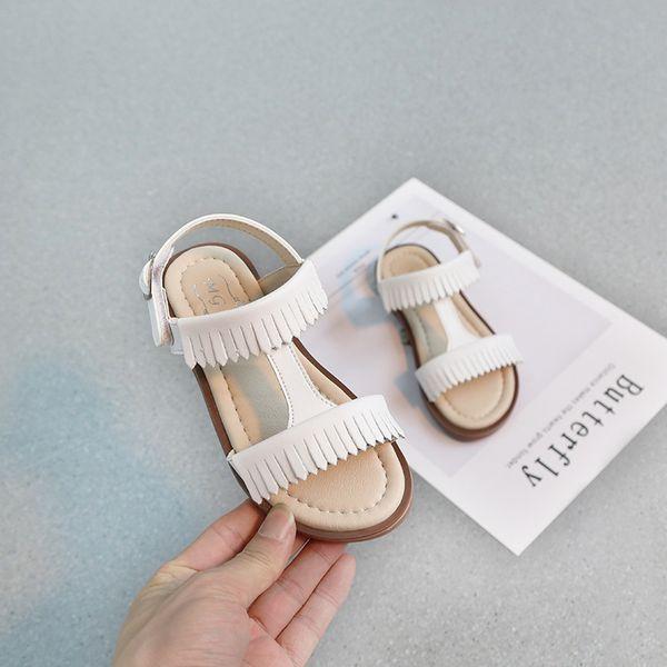 Student Kids Crochet Sandals For Girls Woman Tassels Soft Sole Of Children Girl Princess Shoes Non-slip Child Tide Beach Shoes Fashion