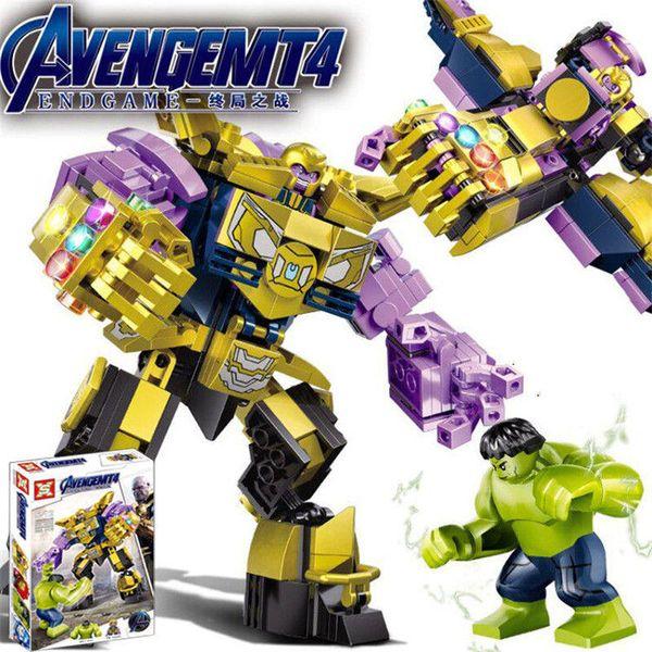 Avengers Endgame Kids Bausteine Iron Man Hulk Thanos Iron Patriot ABS Spielzeug Figur Baustein Assebmle Block