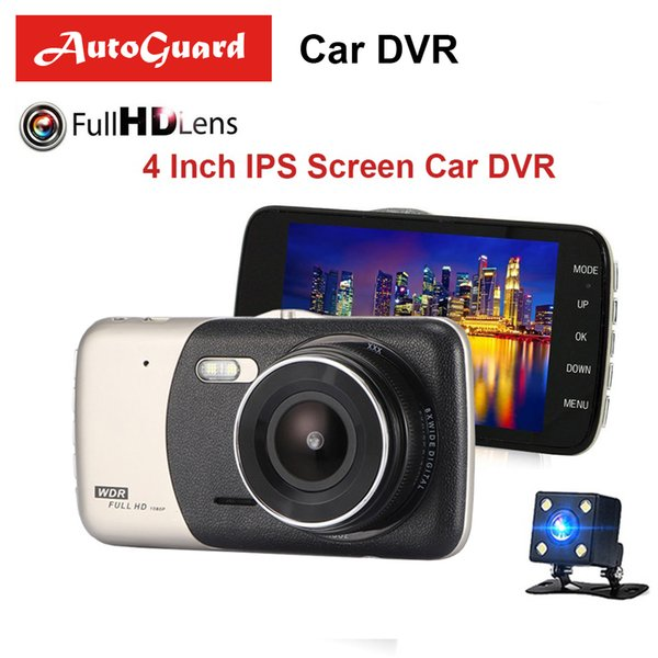 4 Inch IPS FHD 1080P Car Dvr Dash Cam Auto Camera Dual Lens Video Recorder With Rear View Camera Registrator Night Vision DVRs