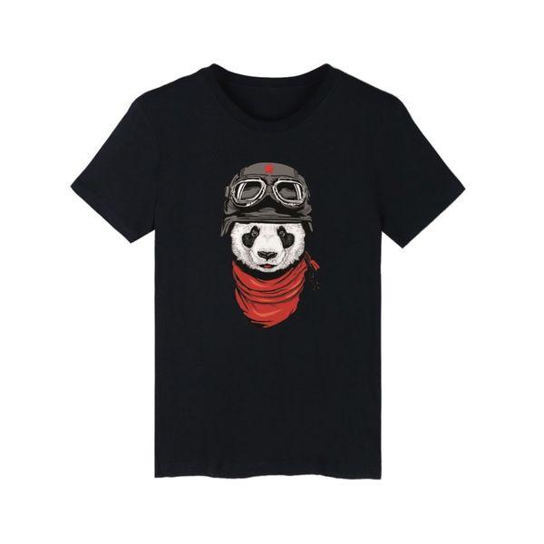 2019 Hot Cartoon Panda Pattern T Shirt Fashion Cotton O Neck Short Sleeve Men's T Shirt Funny Streetwear Hip Hop Clothes