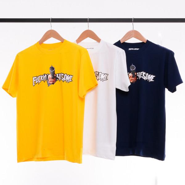 Nueva Fucking Impresionante Camisetas Diseño Cool Men Skateboards Tees Alta Calidad 100% Algodón Amantes Camisas Casuales LLWH0503