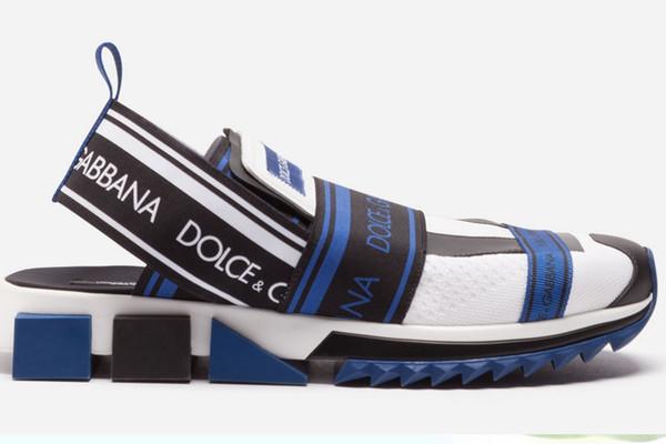 2019 neueste marken männer bunte stricken sorrento sneaker sandale designer frauen mesh oberen stretch bands gummisohle freizeitschuhe rutsche sandale