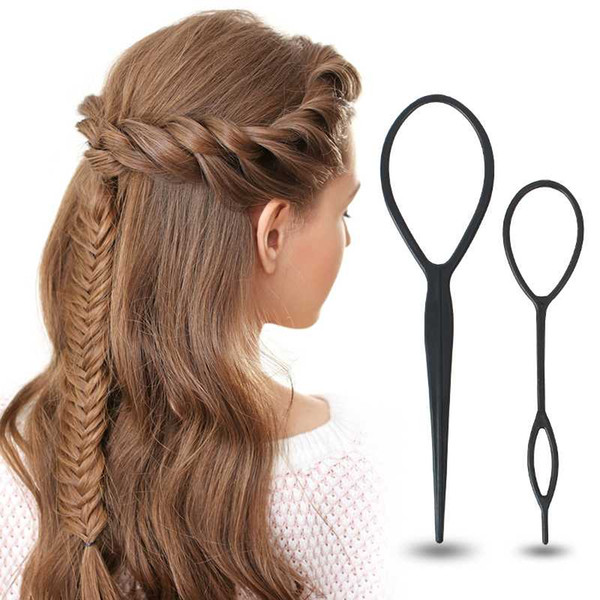 Popular Ponytail Creator Plastic Loop Styling Tools Black Topsy Pony Topsy Tail Clip Hair Braid Maker Styling Tool Tslm1 Plastic Hair Bun Maker Hair
