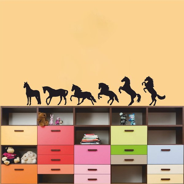Horse Silhouette Vinyl Wall Sticker Home Decor Living Room Bedroom Art Painting Wall Stickers Vinyl Decor Decals