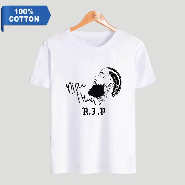 Nipsey hussle RIP Erkekler Pamuk t gömlek 2019 Sıcak Satış t-shirt Rahat Kısa Kollu Kpops Harajuku Artı Boyutu dış giyim serin t ...