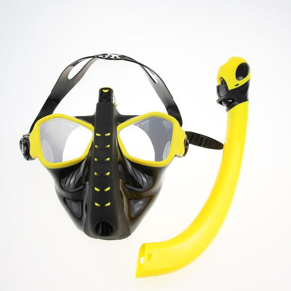 Profundidade de Óculos de Mergulho Adulto Do Mar do Mar Profundo Máscara Facial Todo Tipo Seco Placas de Rosto Tubo de Respiração Dois Em Um Gel de Sílica 128xh C1