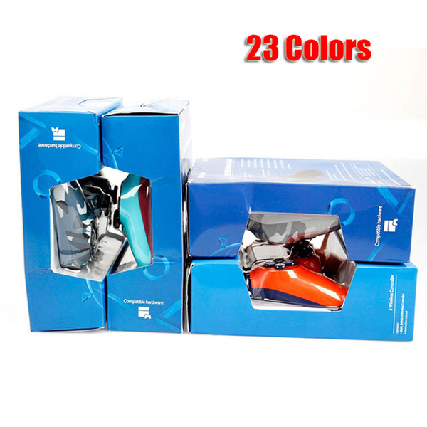 top popular Wireless Bluetooth Controller for PS4 Vibration Joystick Gamepad Game Controller for Sony Play Station With Retail Box 23 Colors DHL 2020