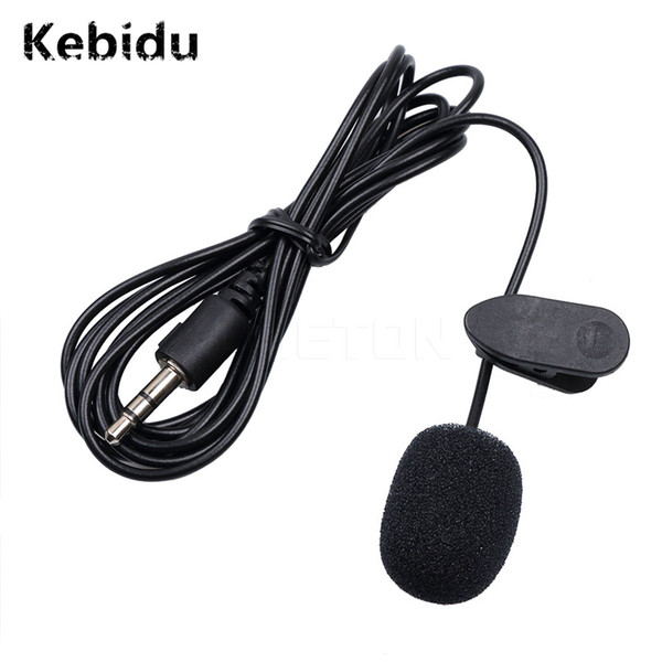 Kebidu 3.5mm Universal Mini Microphone Headset Lapel Lavalier Clip for Speaking Speech Lectures 1.5m Long Cable