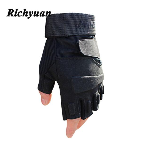 2018 Тактические перчатки спецназа Боевые перчатки без пальцев Противоскользящие черные армейские перчатки с половиной пальцев Тактические