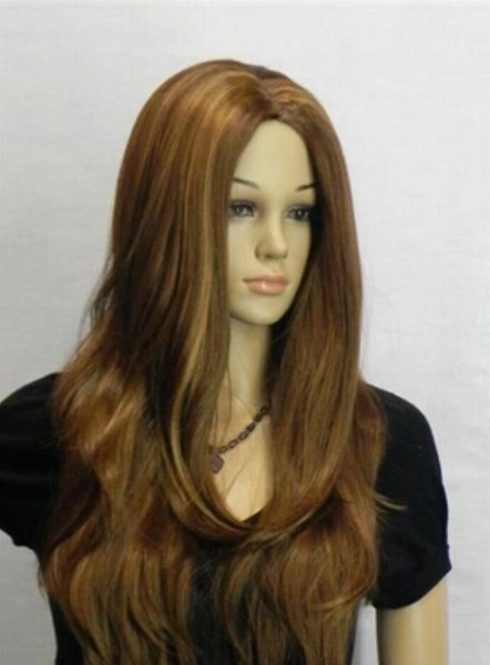 Perruque Livraison Gratuite Nouvelles Femmes Sexy Brun Longs Cheveux Frisés Perruques Complètes Perruque Lolita Cosplay Party