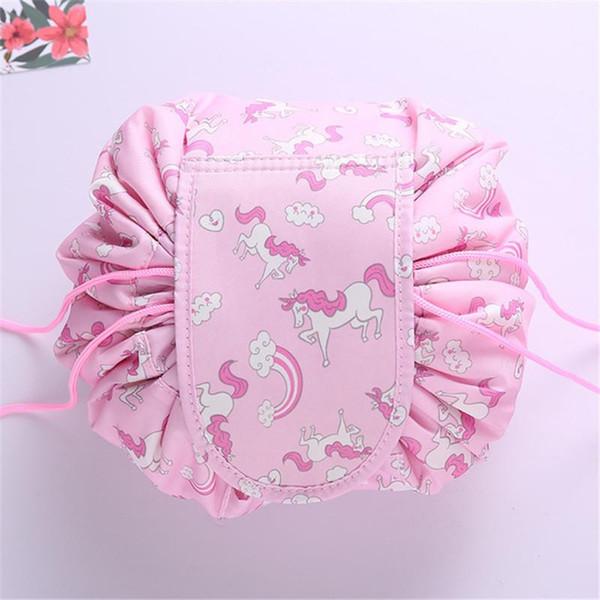 2019 Hot 16 design Lazy Makeup Bag Organizador Con Cordón Bolsa de cosméticos Animal Flamingo Travel Maquillaje Organizador Bolsa de almacenamiento Kit de aseo