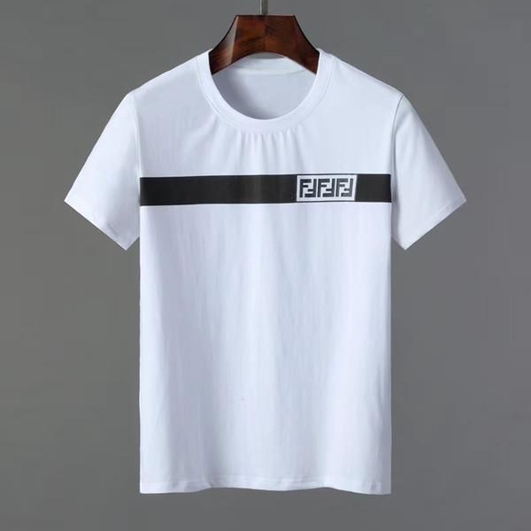 HOT 2019 T-shirt dos homens de manga curta Moda Verão Férias Casual T-shirt dos homens T-shirt de pescoço dos homens Algodão de manga curta Medusa Top M-3X