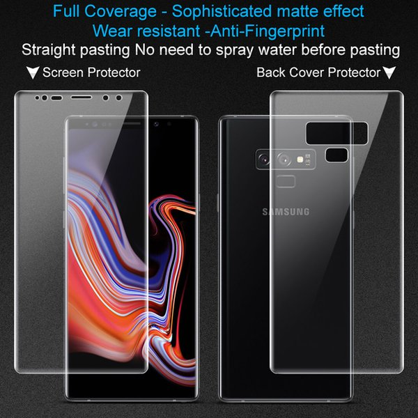 2pcs/lot IMAK Frosted Version Game Film For Samsung Galaxy Note 9 Full Cover Front Back Screen Protectors For Samsung Note 9