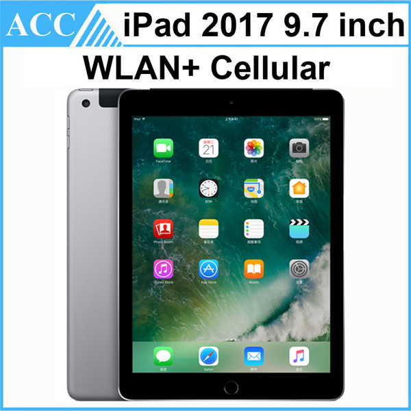 best selling Refurbished Original Apple iPad 2017 9.7 inch 5th Gen WIFI + Cellular A9 Chipset Dual Core 1.84GHz 2GB RAM 32GB 128GB ROM Tablet PC DHL 1pcs