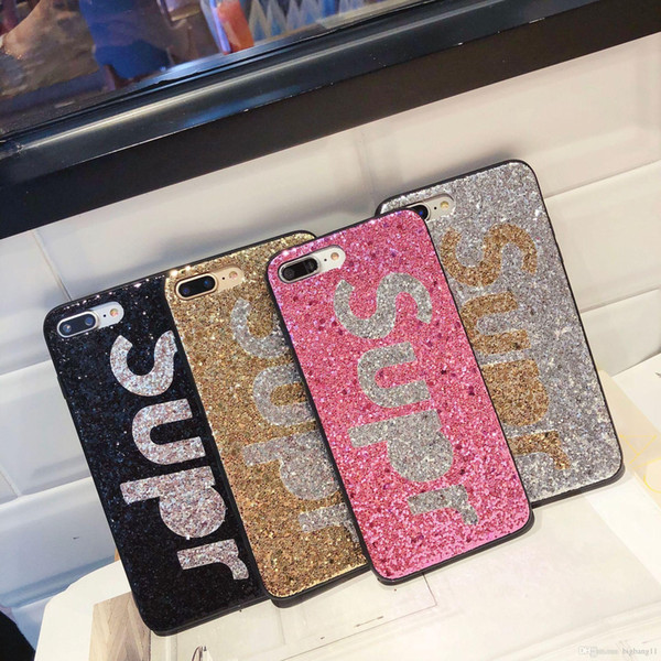 """Fast ship retail """" Super"""" Premium bling Luxury diamond rhinestone glitter back cover phone cases For iphone 8 7 5 6 6s plus case hot sell"""