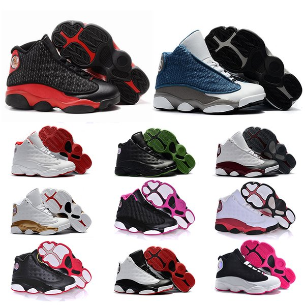 designer xiii 13 jumpman kids basketball shoes 13s chicago flint bred black cat dmp youth trainers big kids boys girls basketball sneakers
