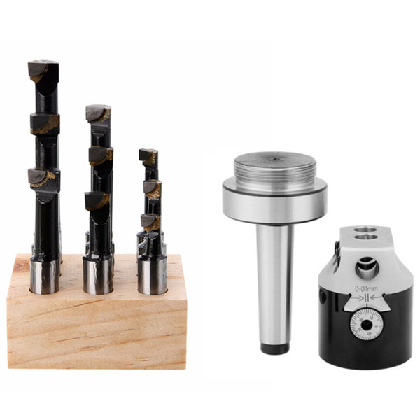 top popular Frshpping 1 Set Taper Collet Chuck Holder Lathe Milling Cutter MT2 Boring Head Tool Holder High-carbon Steel Cutting Machine Adapter 2021