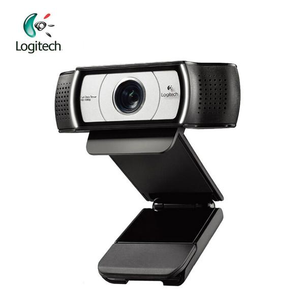 Webcam C930e 1080P HD 1920 * 1080 Webcam de certificación de lente Garle Zeiss HD con zoom digital 4Time
