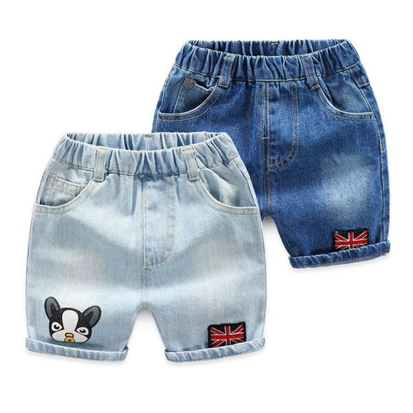 2019 vendita calda nuova moda estate shorts in denim baby boy shorts in denim jeans bambini vestiti per bambini toddler 2-7y
